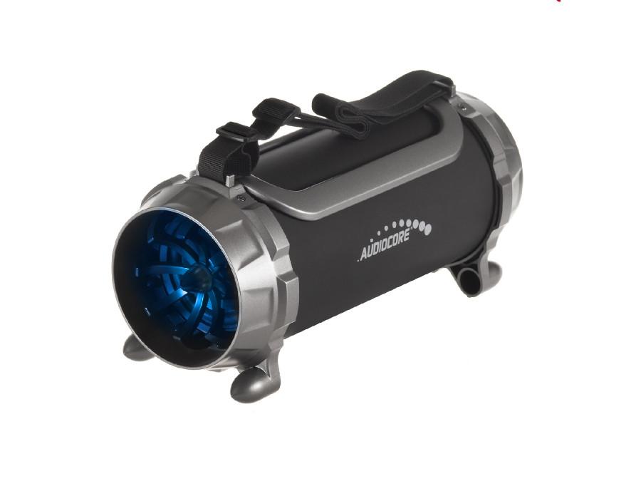 Głośnik bazooka, bluetooth, FM, karta microSD Audiocore AC890 czarny moc 100W 2000mAh