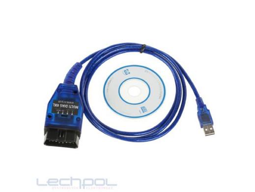 Interfejs OBD2 VAG KKL MULTI CARS USB