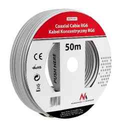 Kabel przewód koncentryczny satelitarny 1.0CCS RG6 50M Maclean  MCTV-571