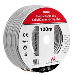 Kabel przewód koncentryczny satelitarny 1.0CCS RG6 100M Maclean MCTV-572
