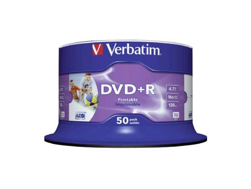 "Płyta DVD+R Verbatim PRINTABLE ""NO ID"" C50 - 43512"