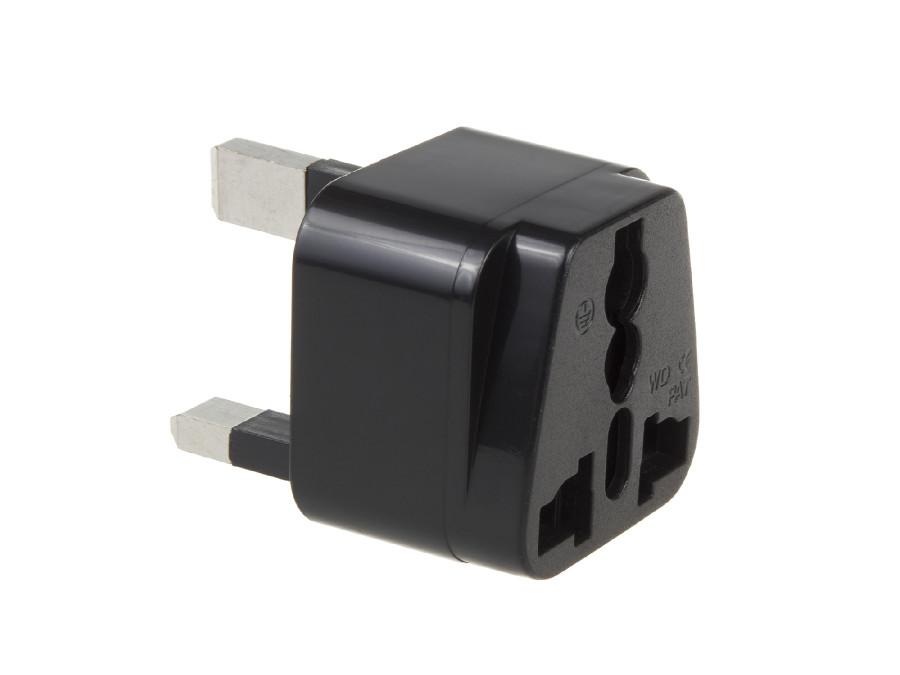 Adapter gniazdo EU na wtyk UK Maclean MCE154 czarny