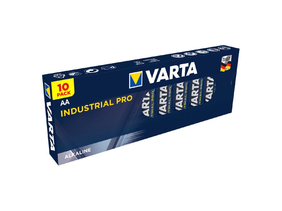 10x baterie R-06 LR06 AA alkaliczne Varta Industrial