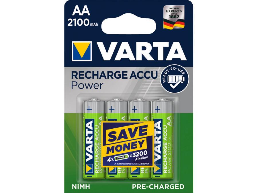 4x akumulatorki Ready2use R-06 AA 2100mAh Varta
