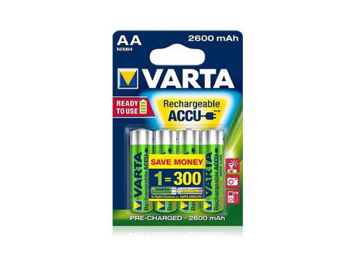 4x akumulatorki Varta...