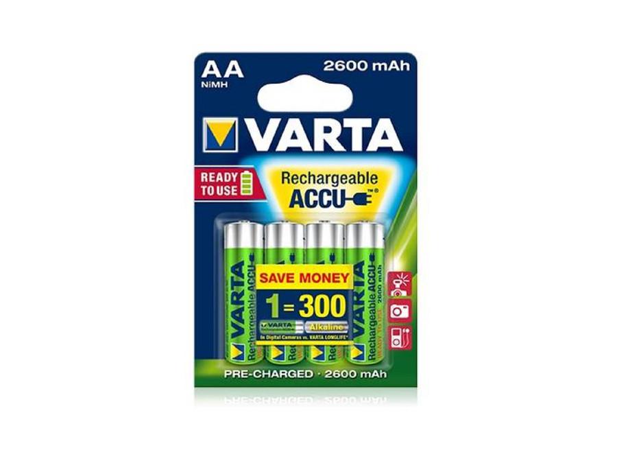 4x akumulatorki Ready2use R6-06 AA 2600mAh Varta