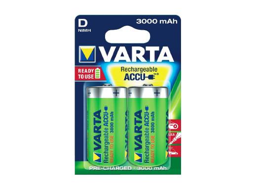 2x akumulatorki Varta Ready2use R20 D 3000mAh