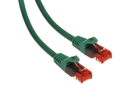 Przewód kabel patchcord UTP cat6 wtyk-wtyk 0,5m zielony Maclean MCTV-300 G