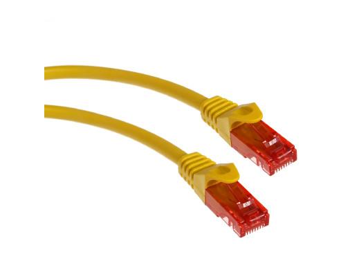 Przewód kabel patchcord UTP cat6 wtyk-wtyk 1m żółty Maclean MCTV-301 Y