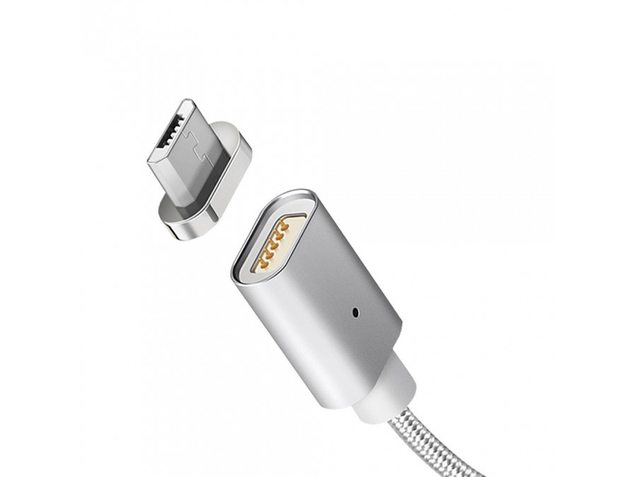Kabel micro USB magnetyczny silver Maclean Energy MCE160 - Quick & Fast Charge