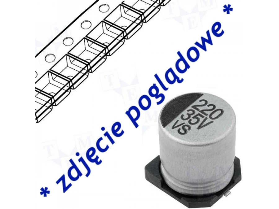 Kondensator elektrolityczny SMD 47uF/16V 6,3*5,3mm
