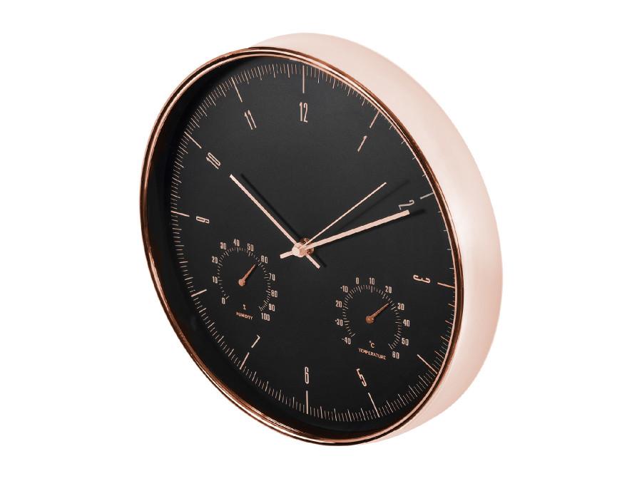 Zegar ścienny złoty 12''...
