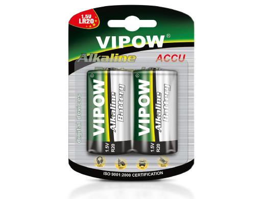 2x Baterie R-20 LR20 D alkaliczne Vipow blister