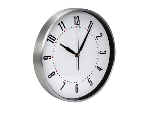 Aluminiowy zegar ścienny...