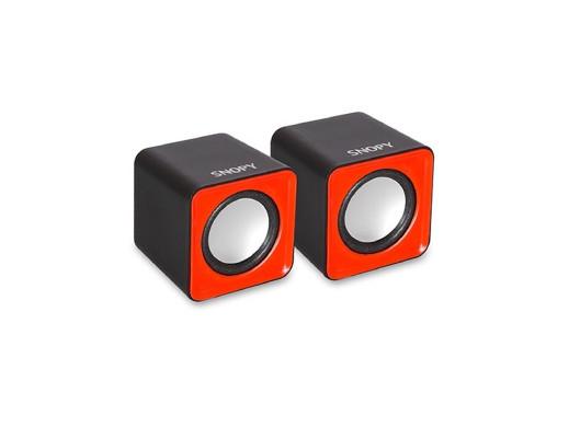 Głośniki komputerowe USB Snopy SN-66 czerwone