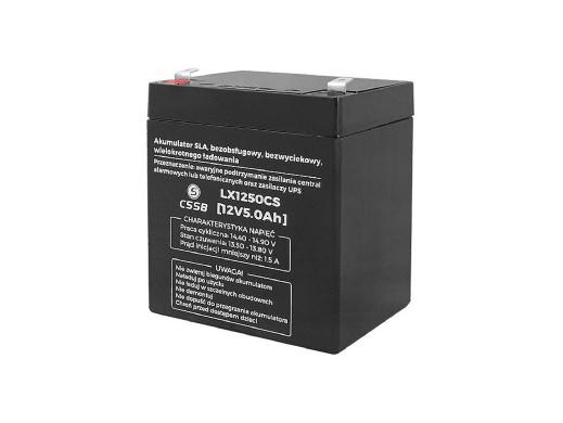 Akumulator żelowy LX1250 12V 5Ah