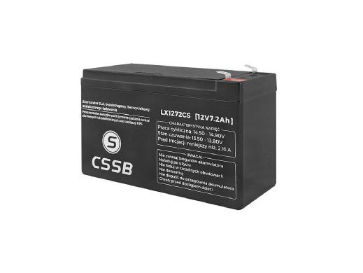 Akumulator żelowy LX1272 12V 7,2Ah