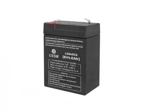 Akumulator żelowy LX640 6V 4Ah