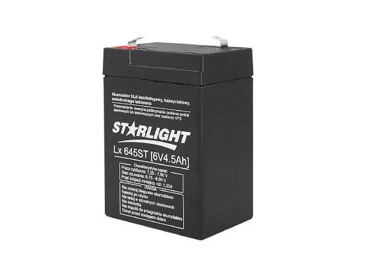 Akumulator żelowy LX645 6V...
