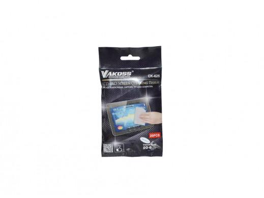 Ściereczki do LCD Vakoss (20szt)