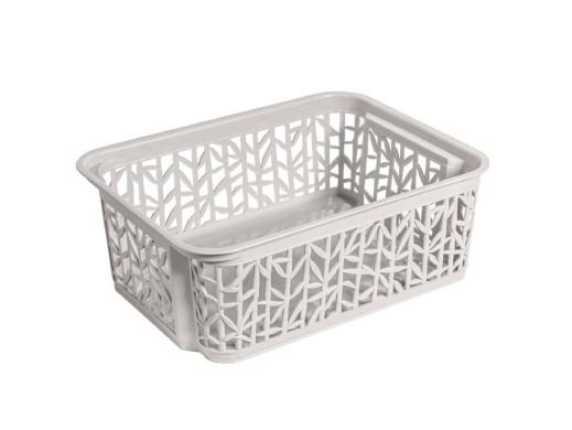 Koszyk Bamboo 2 235x177x85 BranQ biały