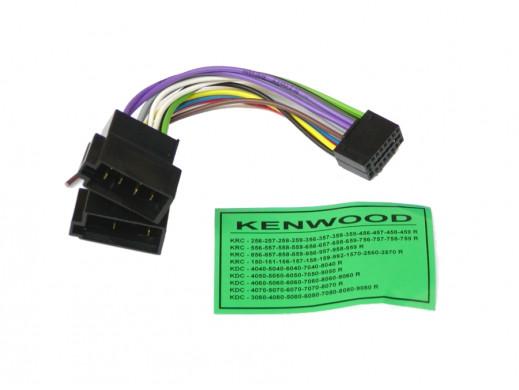 Złącze samochodowe Kenwood 16 pin KRC-256 KDC 3080, KDC 4040, KDC 4050, KDC 4060, KDC 4070, KDC 4080, KDC 5040, KDC 5050, KDC 50