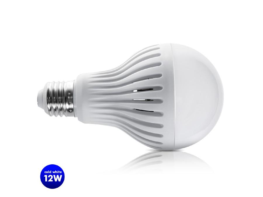 Żarówka LED E27 12W 230V Maclean Energy MCE176 CW zimna biała mikrofalowy czujnik ruchu i zmierzchu