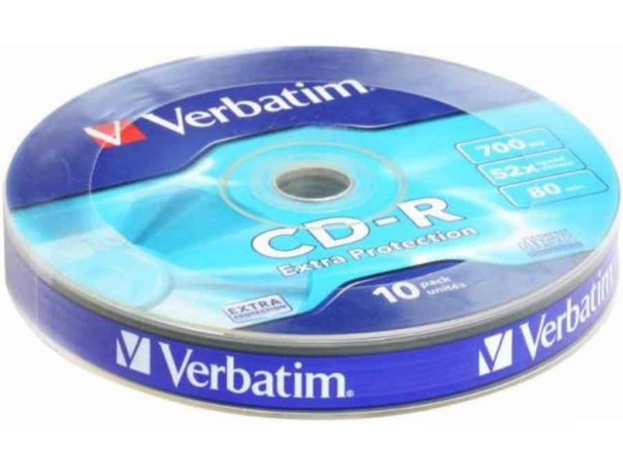 Płyta CD-R Verbatim 700MB bez opakowania