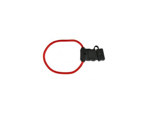 Gniazdo bezpiecznika nożowego z kablem czerwone 5mm2