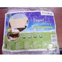 Żagiel ogrodowy zacieniacz UV poliester 4m kwadrat GreenBlue GB504 kremowy hydrofobowa powierzchnia , Towar poekspozycyjny, dro