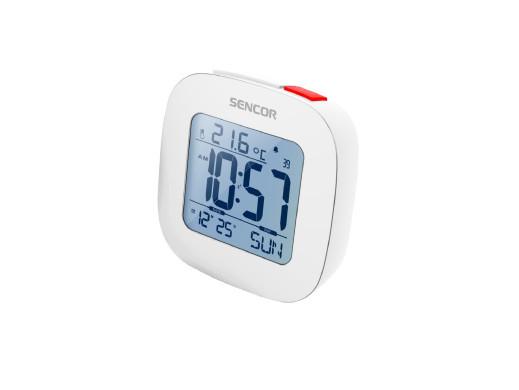 Budzik cyfrowy z termometrem Sencor SDC1200W biały