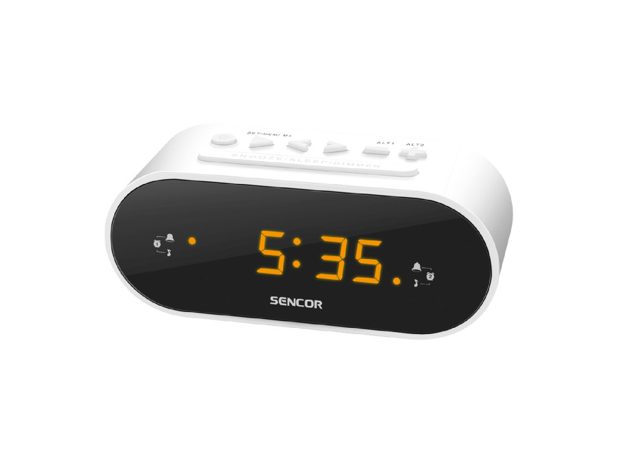 Radiobudzik Sencor SRC1100W biały