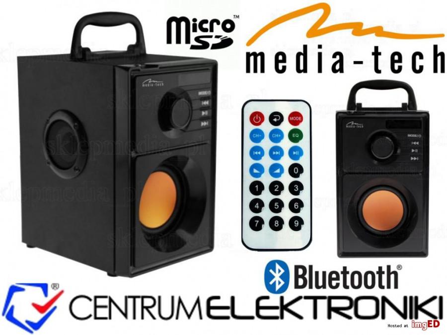 Głośnik BT FM/AUX/SD/USB  MT3145 15W Media-Tech POSERWISOWY, Widoczne ślady użytkowania