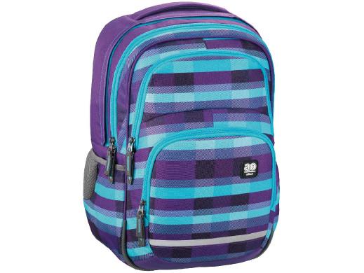 Plecak szkolny Blaby Summer check purple All Out