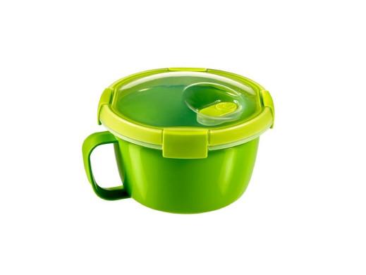 Pojemnik okrągły Curver To Go Noodles 0,9L zielony