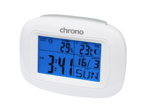 Zegar pogodynka Meteo ZP19 biały