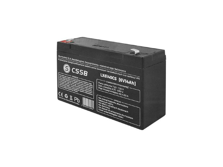 Akumulator żelowy LX6140 6V 14Ah