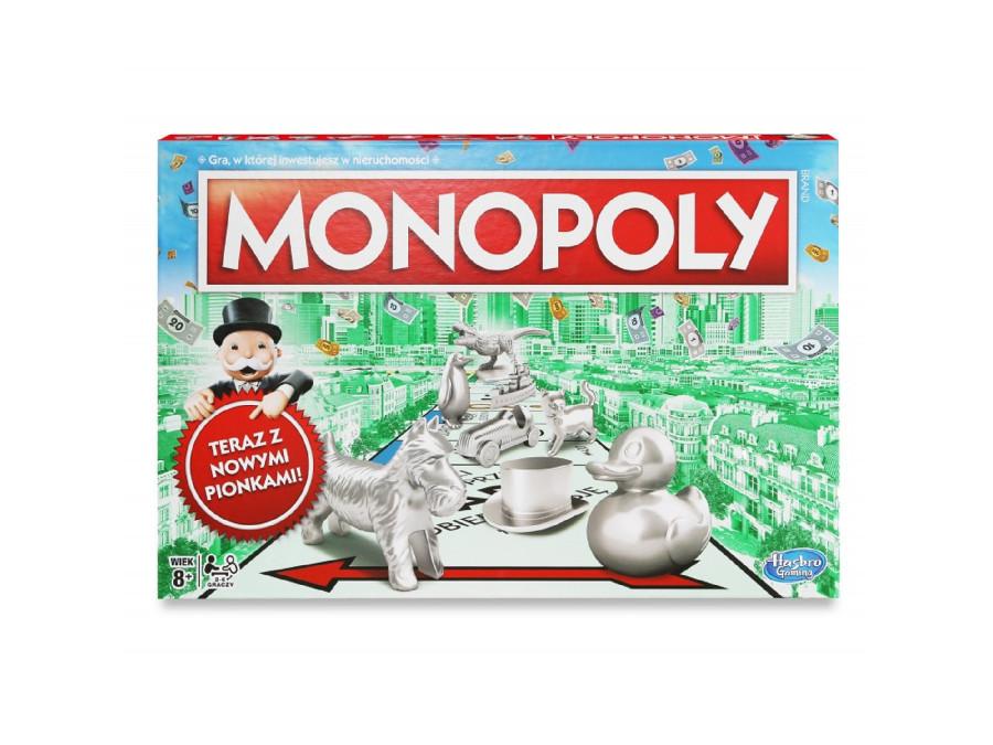 Gra planszowa Monopoly Classic Nowe pionki C1009