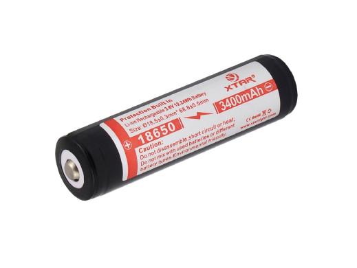 Akumulator 18650 z zabezpieczeniem Xtar 3400mAh