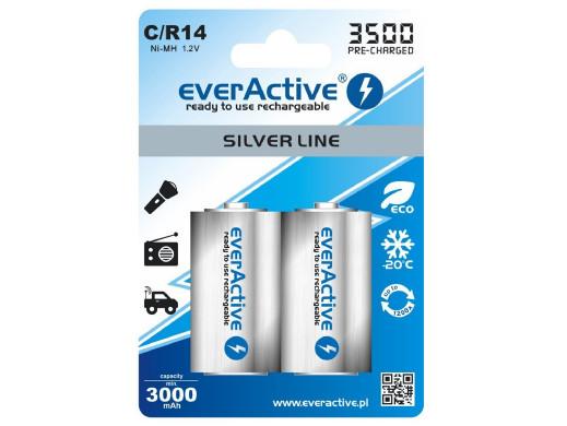 2x akumulatorki everActive R14/C 3500mAh