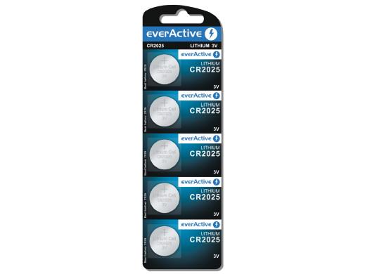 5x bateria litowa mini everActive CR2025