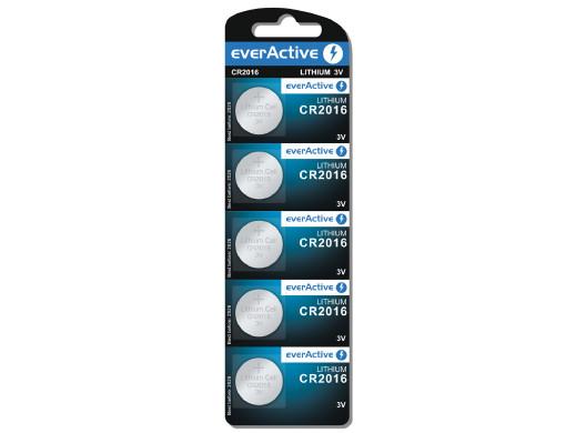5x bateria litowa mini everActive CR2016