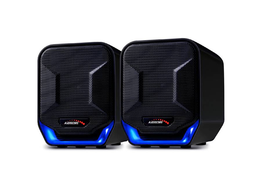 Głośniki komputerowe 6W USB Blue&Black Audiocore AC865 B