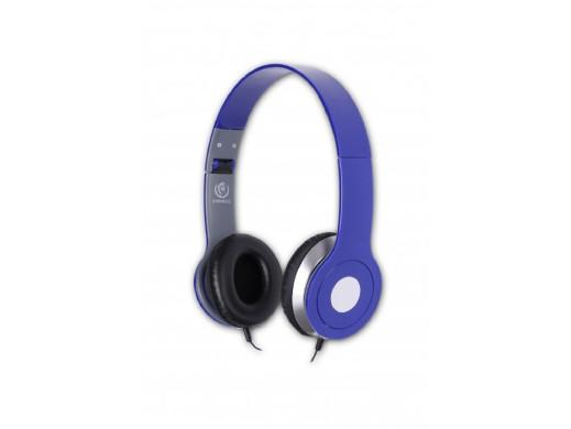 Słuchawki z mikrofonem City Rebeltec Niebieskie