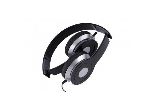 Słuchawki z mikrofonem City Rebeltec Czarne