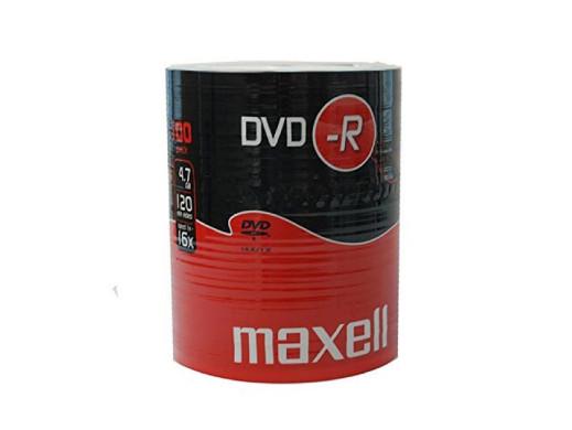 MAXELL DVD-R 4,7GB 16X SP*100 275733.30.TW POSERWISOWE - Liczne porysowania, zabrudzenia