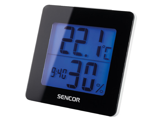 Termohigrometr z budzikiem Sencor SWS1500B czarny