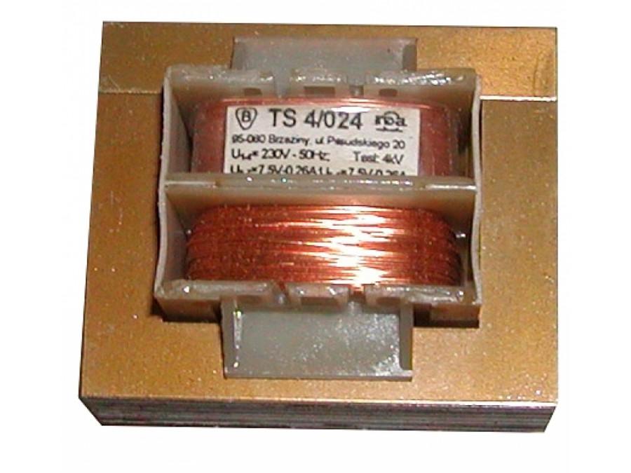 TRANSFORMATOR 7,5V/0,26A TS 4/024