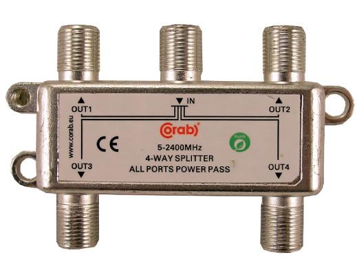 Rozgałęźnik F-sat 4 wyjścia 5-2400Mhz Corab