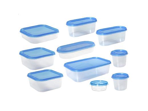 Zestaw 10 pojemników Plast Team Helsinki niebieskie